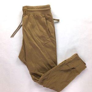 Nike Air Force 1 Golden Beige Brown Tan Sweatpants